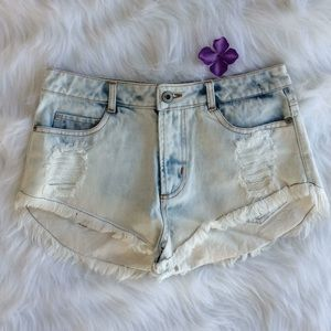 Distressed 💕 Shorts - High Low